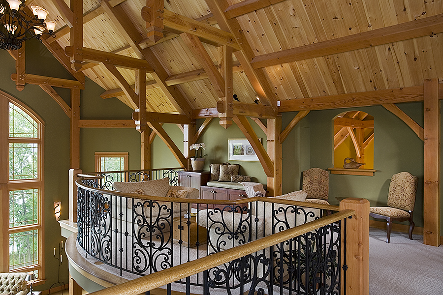 Perfect Black Canyon Builders, Durango, CO Courtesy Woodhouse Timber Frame Company,  Great Room