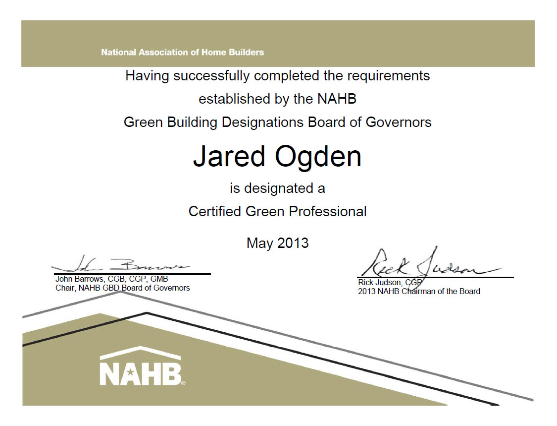 Black canyon builders black canyon builders durango co custom jared ogden president of black canyon builders earns green building certification from nahb xflitez Images