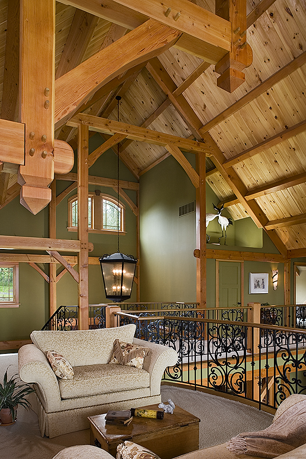 Superior Black Canyon Builders, Durango, CO Courtesy Woodhouse Timber Frame Company,  Woodworking Joinery Detail