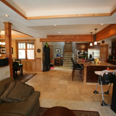 Black Canyon Builders, Durango, CO custom, energy efficient home, common area
