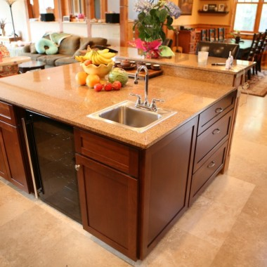 Black Canyon Builders, Durango, CO custom, energy efficient home, kitchen island