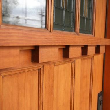 Black Canyon Builders, Durango, CO custom, energy efficient home, front door detail