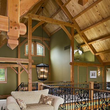 Black Canyon Builders, Durango, CO courtesy Woodhouse Timber Frame Company, woodworking joinery detail