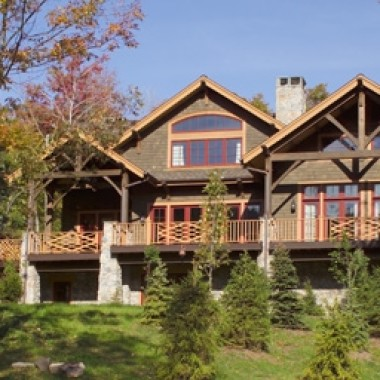 Black Canyon Builders, Durango, CO courtesy Woodhouse Timber Frame Company Starker exterior