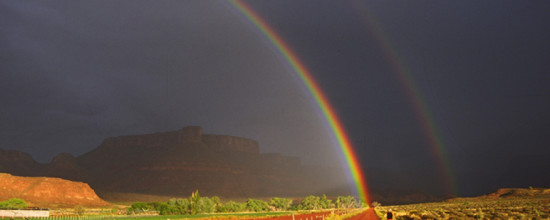 Rainbow, copyright Jared Ogden for Black Canyon Builders, Durango, Colo.